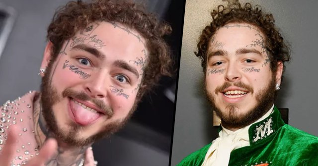 Post Malone Before His Tattoos: Post Malone Looks Completely Different Without Face
