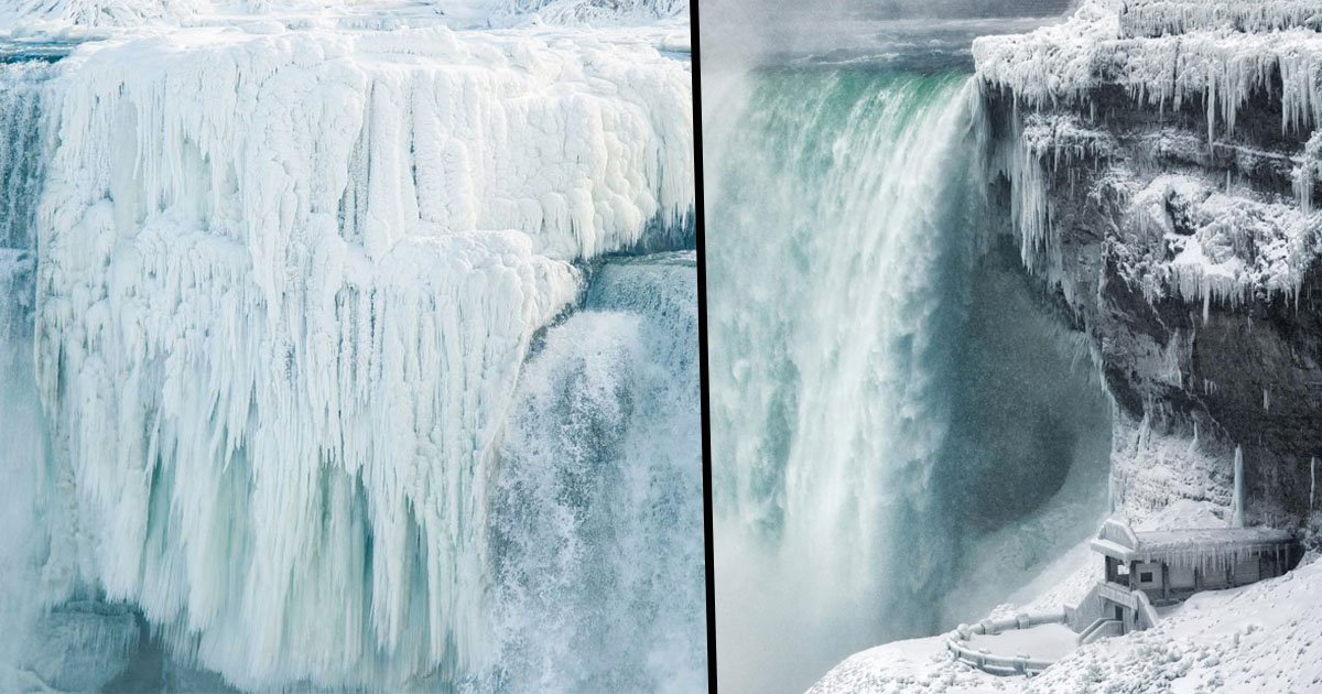 The Niagara Falls Have Frozen Over And The Photos Are