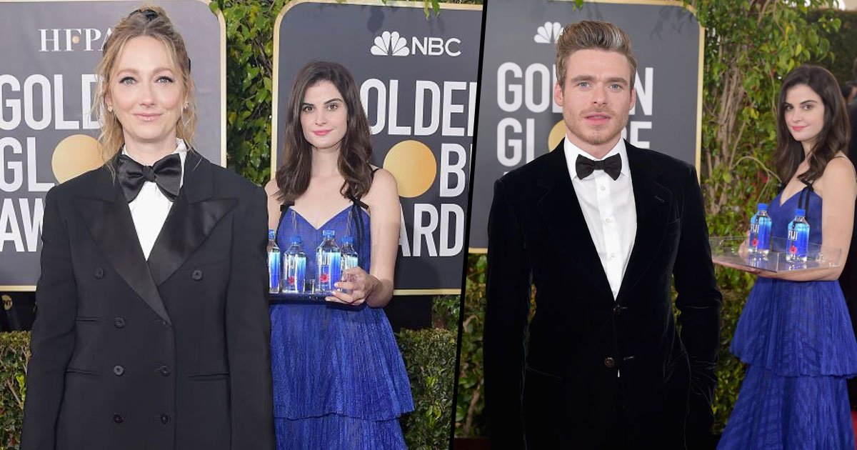 The Fiji Water Girl Stole The Show At The Golden Globes 22
