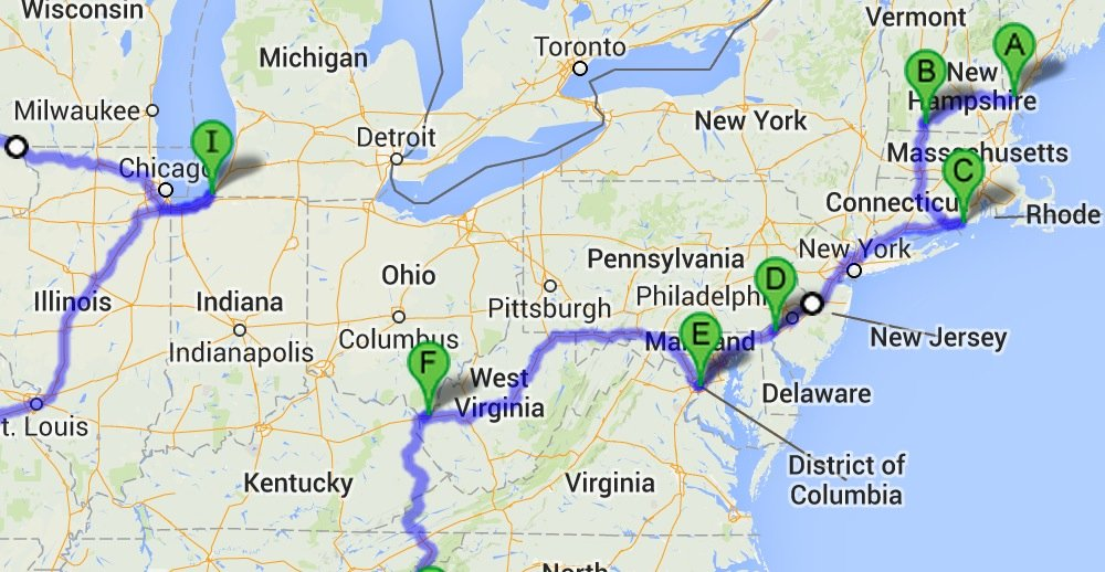 How to drive through all 48 of the contiguous United States ...