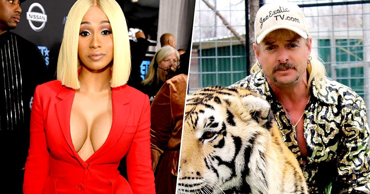 Cardi B Eyebrows: Cardi B Starting GoFundMe To Free 'Tiger King' Joe Exotic