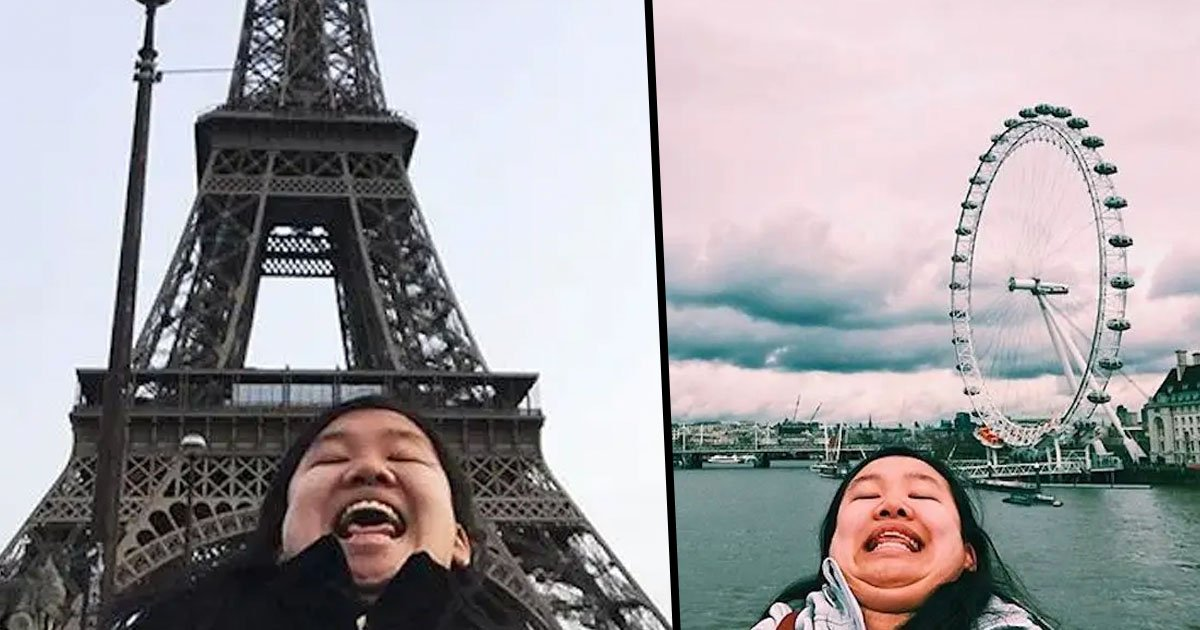 Woman Fights Unrealistic Beauty Standards by Taking Hilariously Unflattering Travel Pictures
