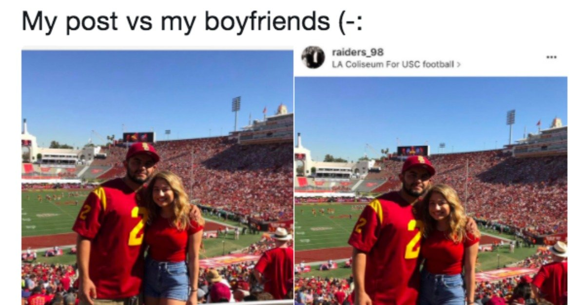 The Hilarious Difference Between Couple's Instagram ...