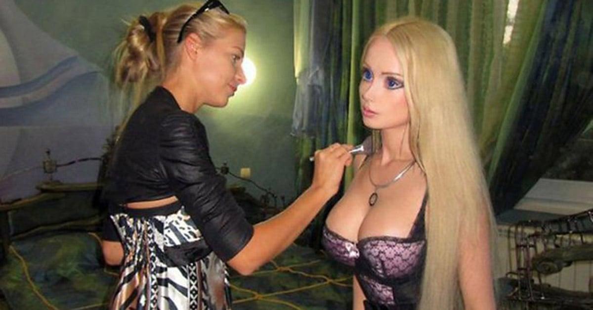 real life barbie without makeup