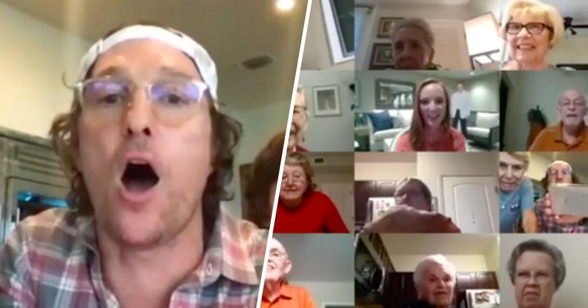 Matthew McConaughey Hosted Virtual Bingo for a Senior Facility and It's the Sweetest Thing You'll Ever See