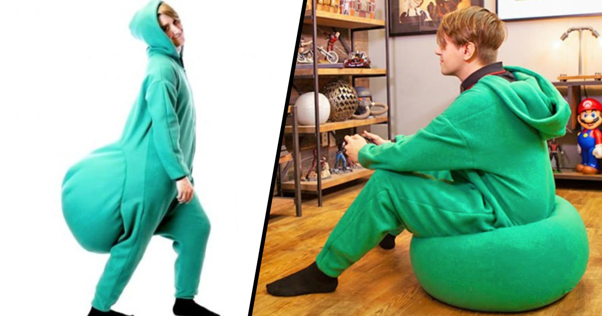 Phenomenal Someone Made A Beanbag Onesie And Wed Love To Have One Ibusinesslaw Wood Chair Design Ideas Ibusinesslaworg