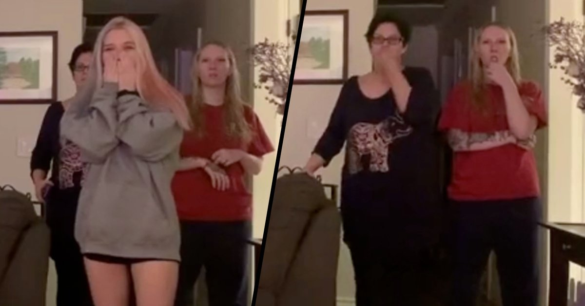 Woman Pranks Her Mom With Hilarious Fake Public Service Announcement