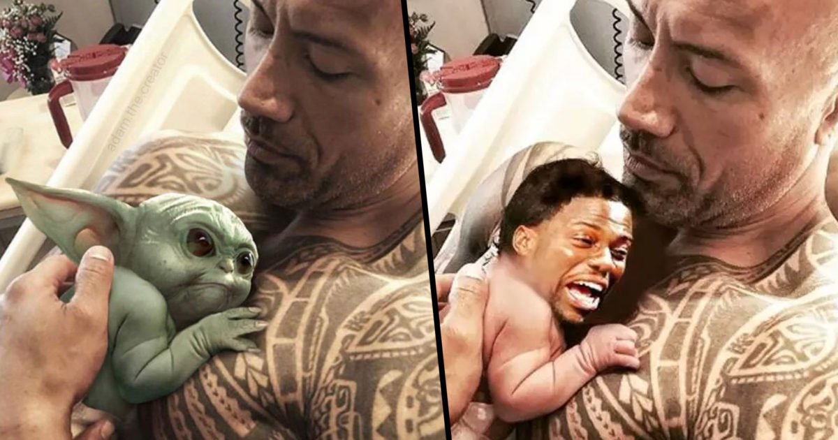Dwayne Johnson Posts Picture With Baby Yoda And Manages To