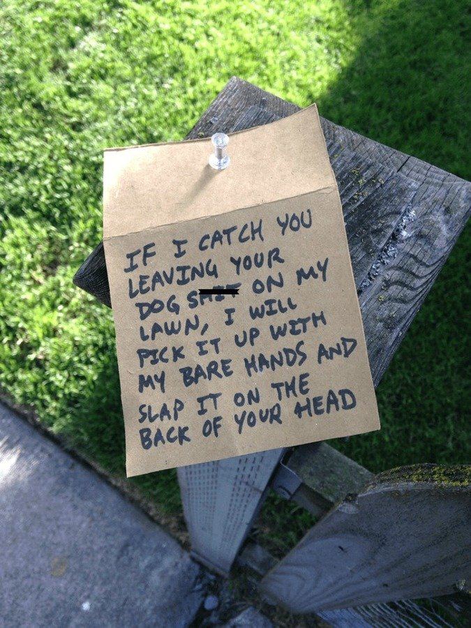 The All-Time Funniest Notes Ever Written by Bitter Neighbors ...