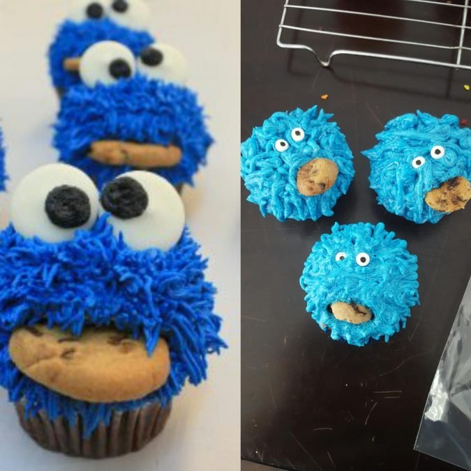 Cookie Monster Cupcakes Expectation Reality
