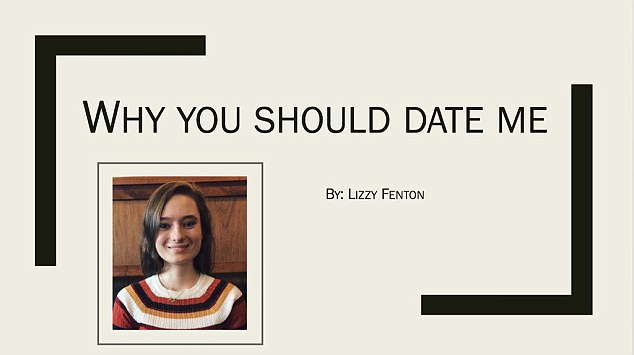 woman makes hilarious powerpoint presentation to persuade her crush
