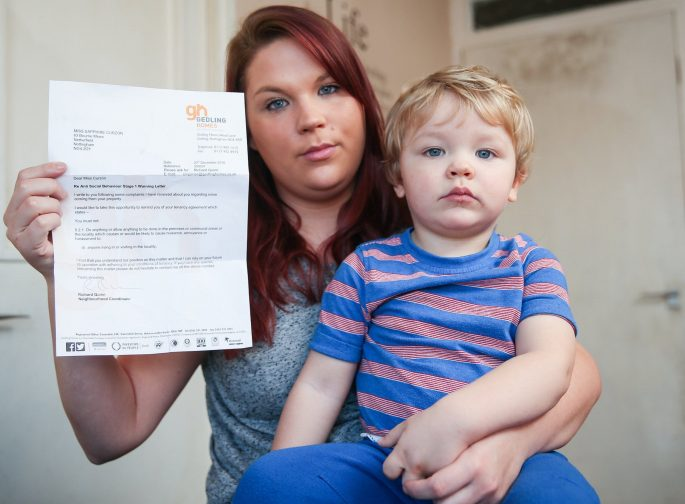 This Mom's Landlord Is Threatening Eviction Because Of Her Two-Year-Old Son