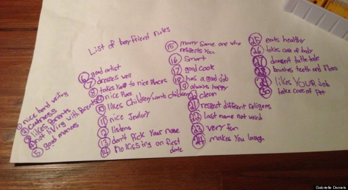 30 Rules for Boyfriends from a 6- and 9-year-old