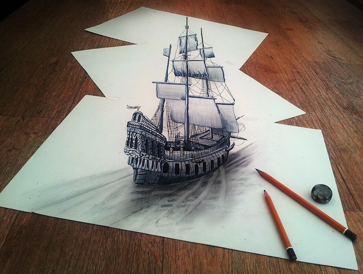 3D Pencil Sketches - 01