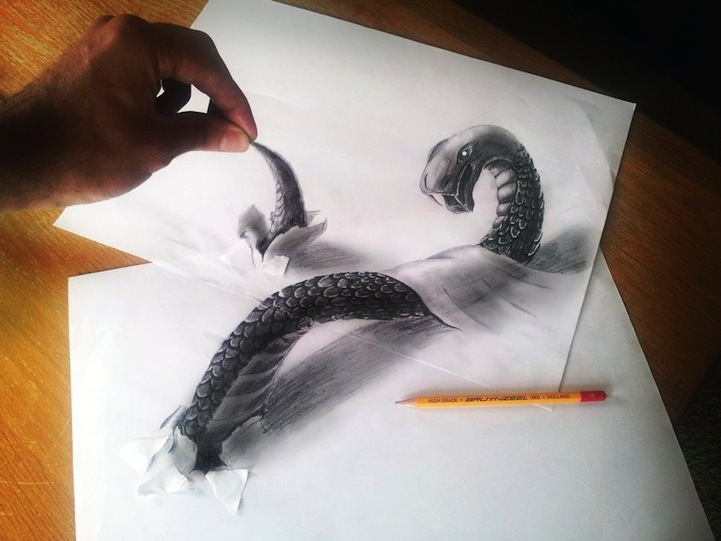 3D Pencil Sketches - 06