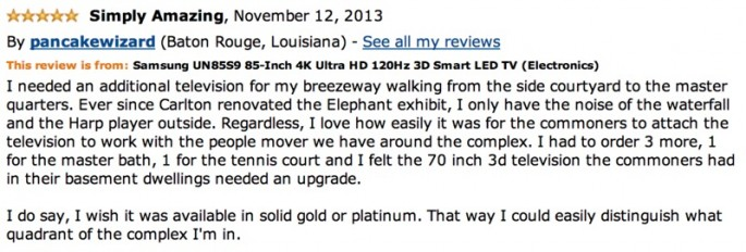 Amazon Reviews of 85-inch TV - 10