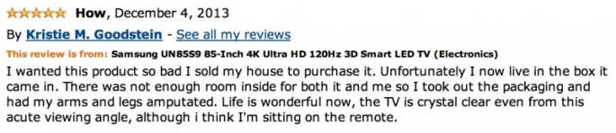 Amazon Reviews of 85-inch TV - 14