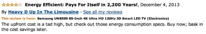Amazon Reviews of 85-inch TV - 15