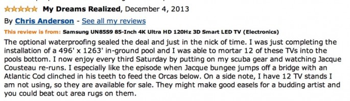 Amazon Reviews of 85-inch TV - 17