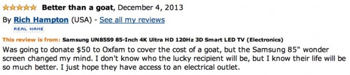 Amazon Reviews of 85-inch TV - 20