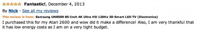 Amazon reviews of 85-inch TV - 03