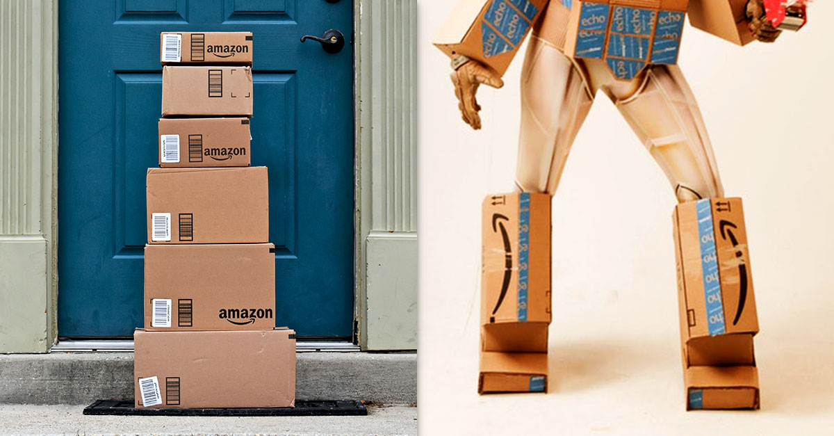 this womans clever amazon prime costume just won halloween