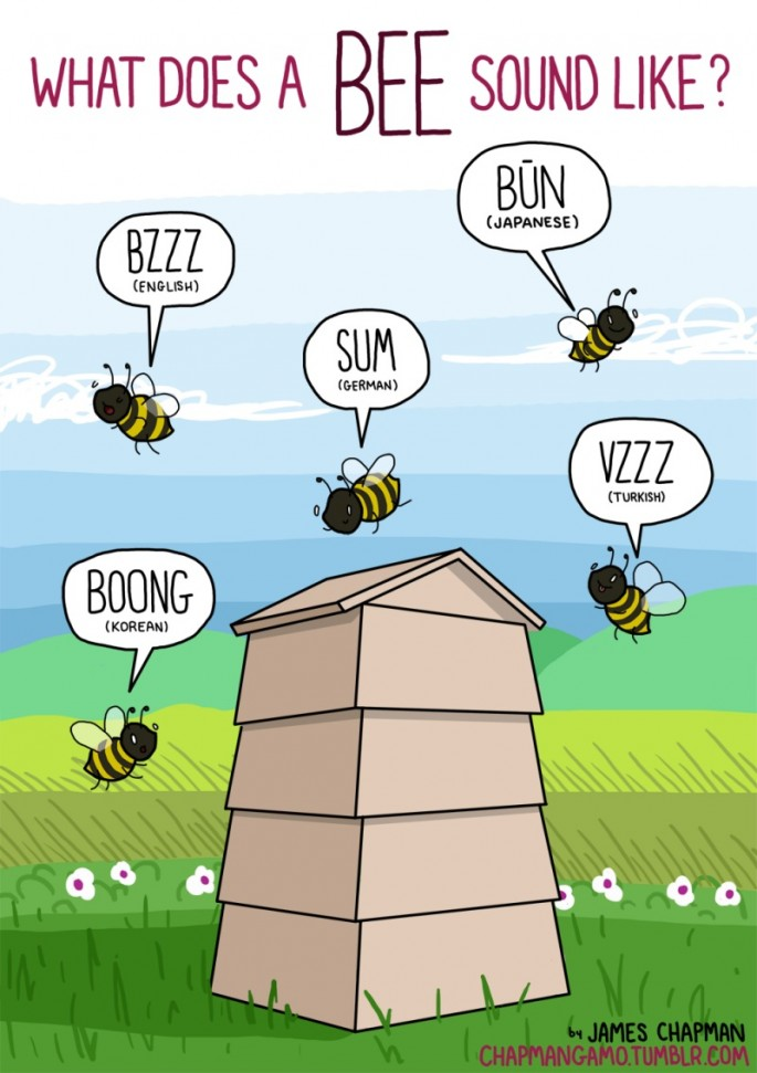 Animal Sounds in Different Languages - Bee