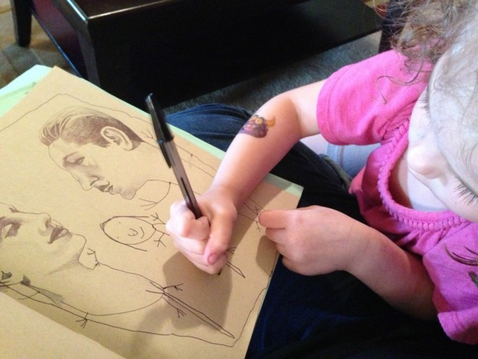 Artist collaborates with her 4-year-old - 01