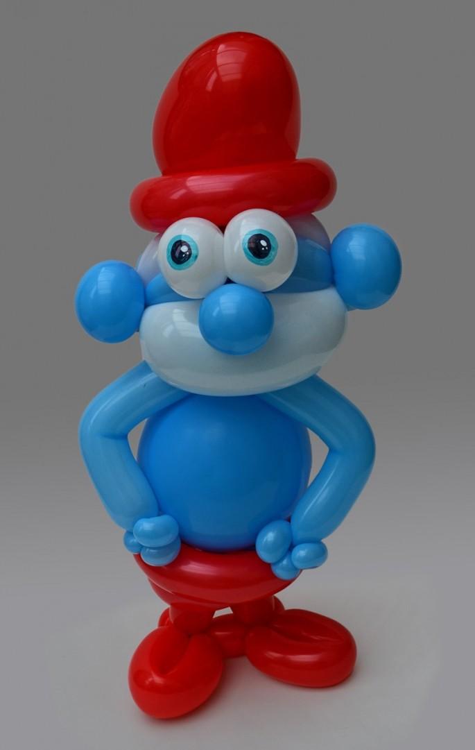 Balloon Art Papa Smurf