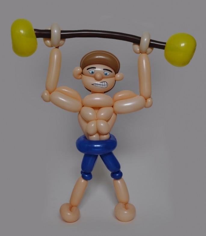 Balloon Art Strong Man