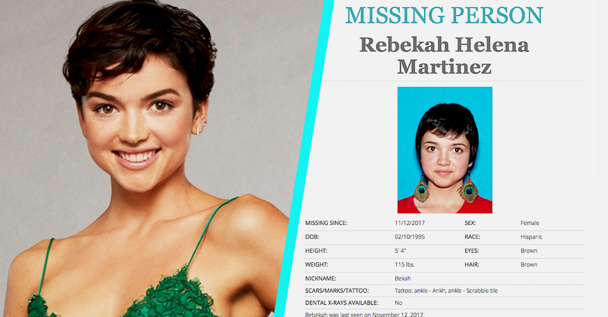 Bekah M. From \'The Bachelor\' Is Currently on a Missing Persons List ...