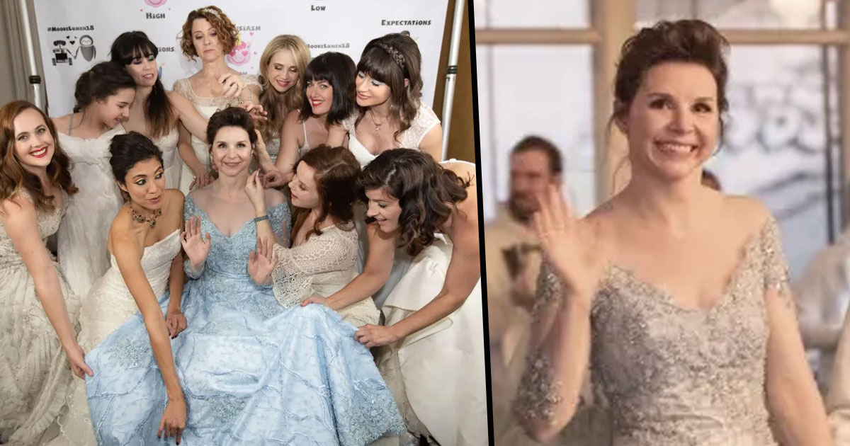 7105560ae1dc Bride Invites Everyone To Wear Their Old Wedding Dresses To Her ...