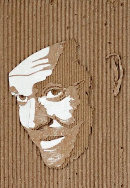 Cardboard Relief Portraits - 01