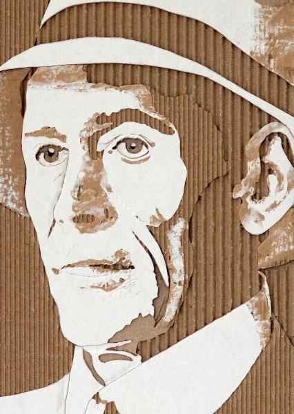 Cardboard Relief Portraits - 02
