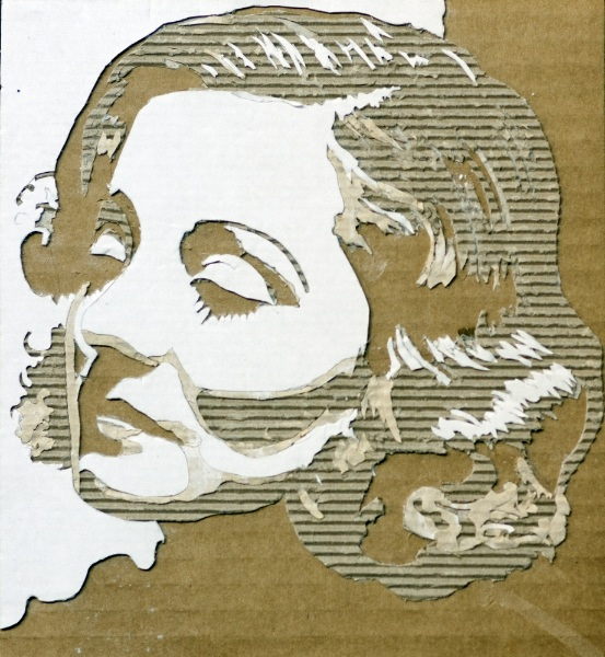 Cardboard Relief Portraits - 03