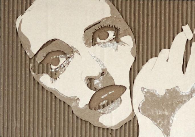 Cardboard Relief Portraits - 06