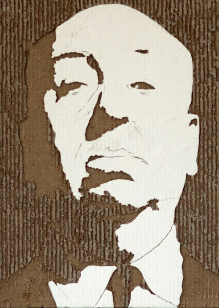 Cardboard Relief Portraits - 11