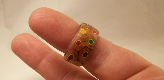 Colored Pencil Ring - 01