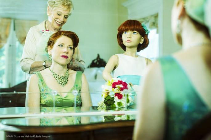 Artist buys imitation family to satirize conformity