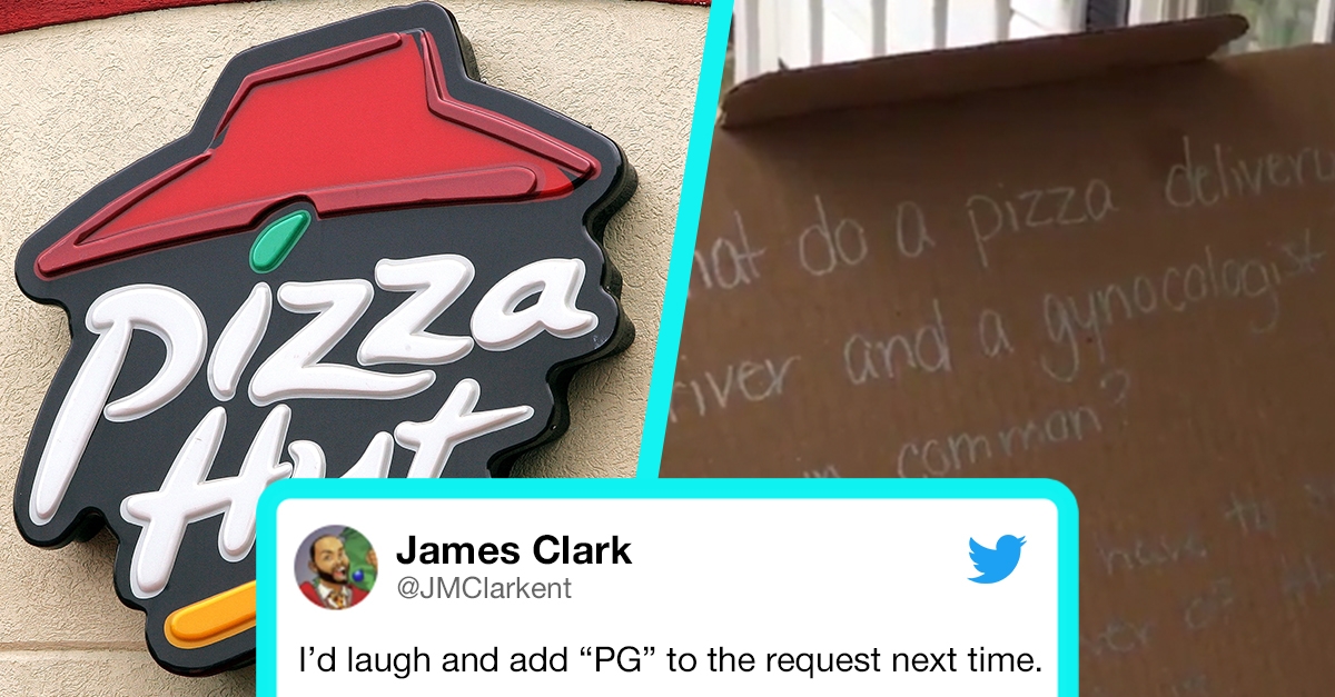 Two Kids Asked Pizza Hut To Write A Joke On Their Delivery Box But What