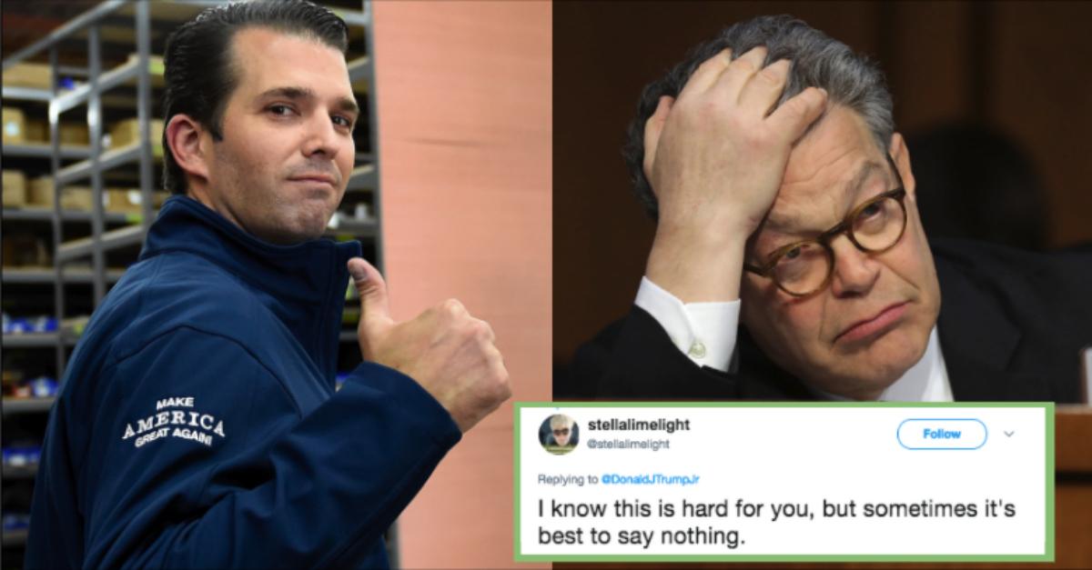 Donald Trump Jr Skewered For His Tone Deaf Response To Al