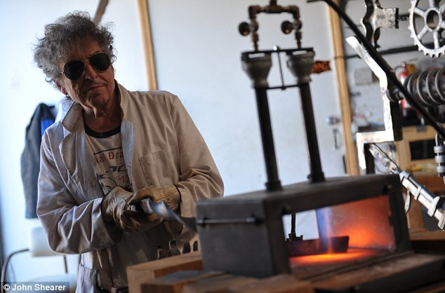 Bob Dylan Is A Welder And He Makes Big Iron Gates Out Of