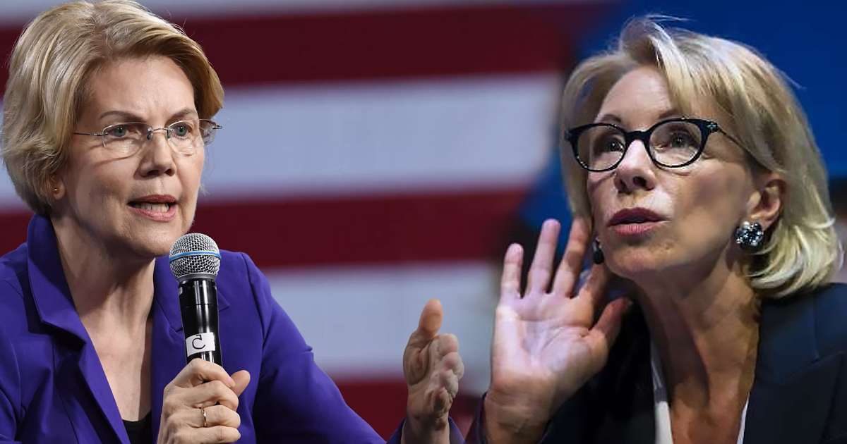 What Betsy Devos Calls Education >> Elizabeth Warren Calls Betsy Devos Worst Secretary Of Education 22w