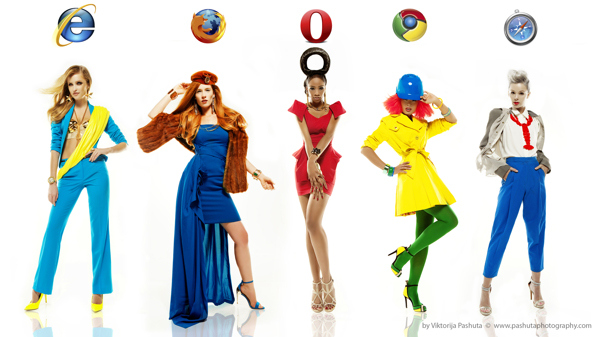Fashion models as web browsers - 01