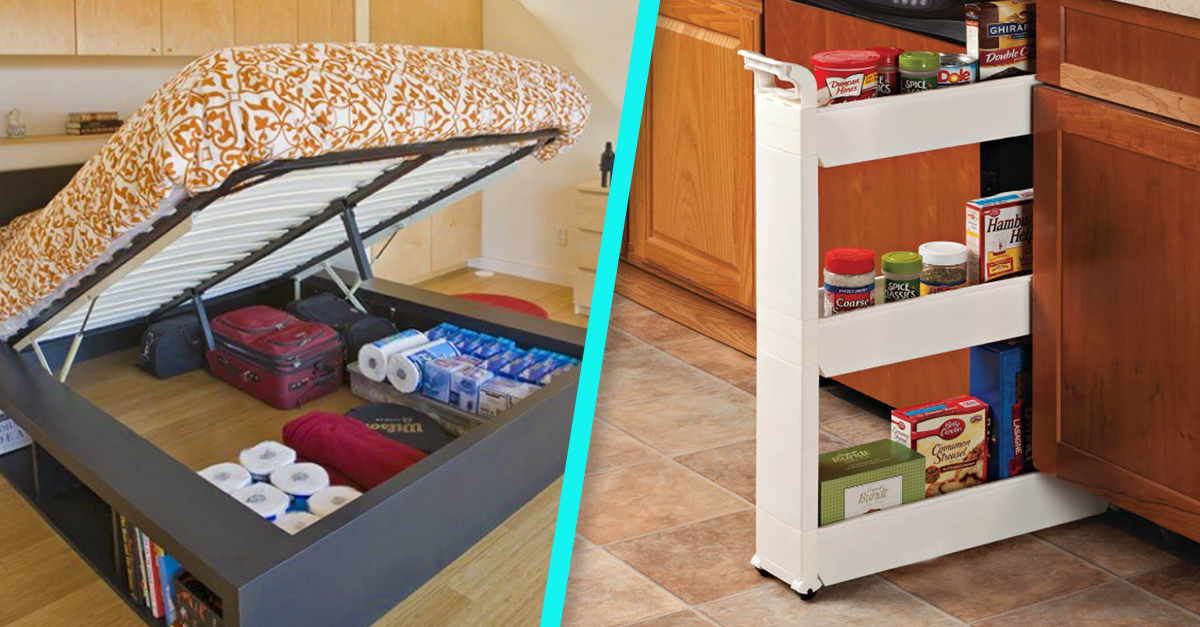 6 Genius, Space-Saving Tips for Apartment Dwellers | 22 Words