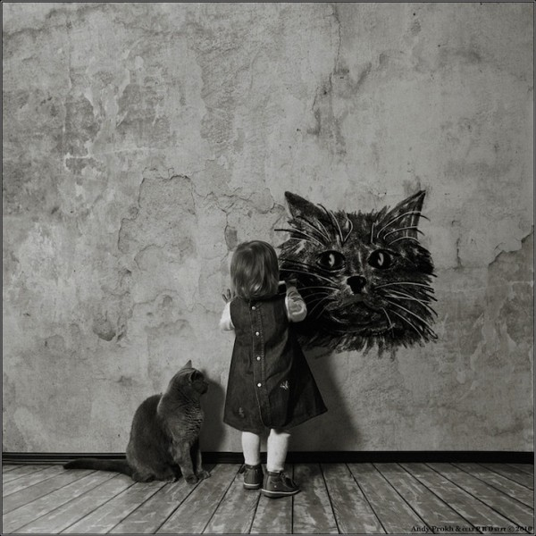 Girl and Her Cat - 08