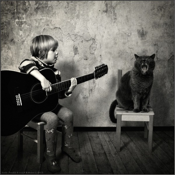 Girl and Her Cat - 16