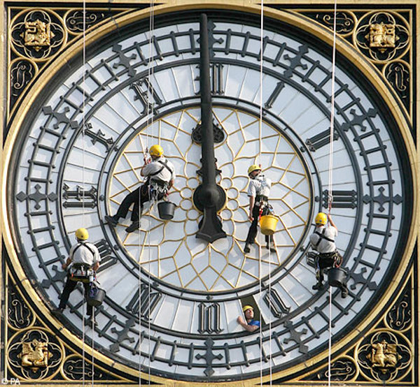 High-flying cleaners - Big Ben