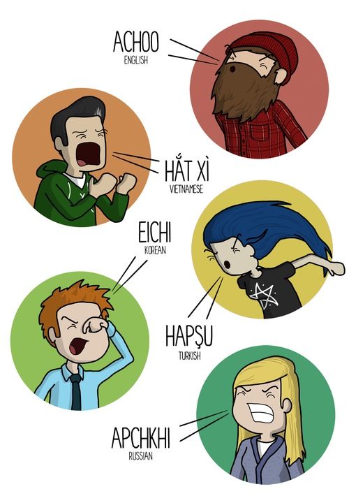 How to Sneeze in 10 Different Languages - 02