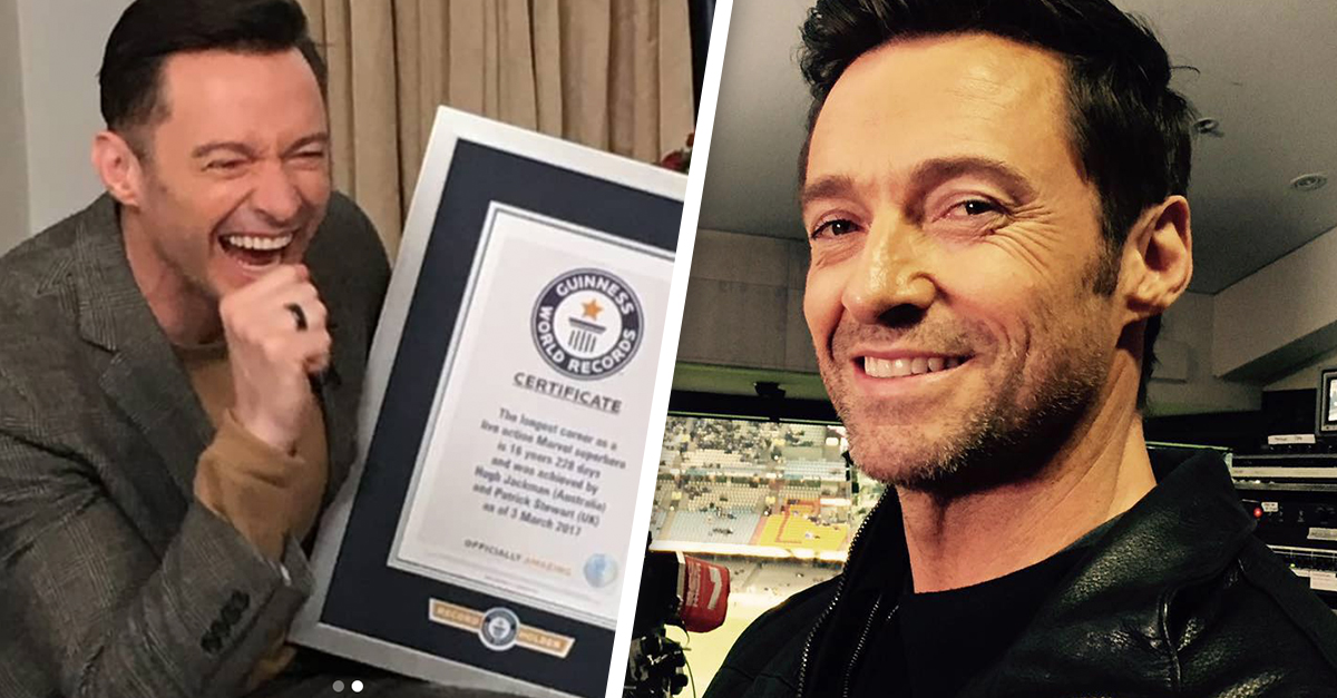 Image result for hugh jackman receives guinness record
